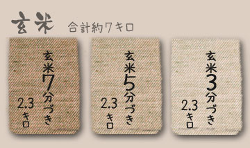 古里さんのアイガモ農法JAS有機認証米あきたこまち7kg (玄米3分5分7分づき)